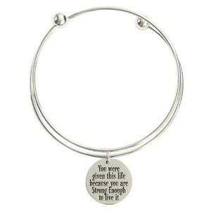 Jewelry - Double-Wrap Stainless Steel Inspirational Bangles